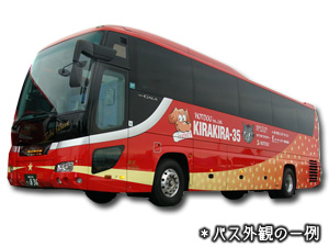 KR216 キラキラ号 名古屋⇒横浜・新宿 【ゆったり4列シート】【コンセント付】車両画像